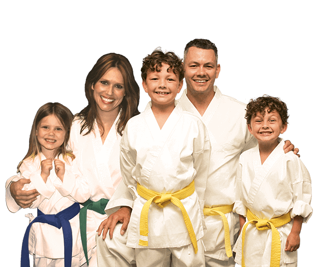 Martial Arts Lessons for Families in __CITY__ __STATE__ - Group Family for Martial Arts Footer Banner