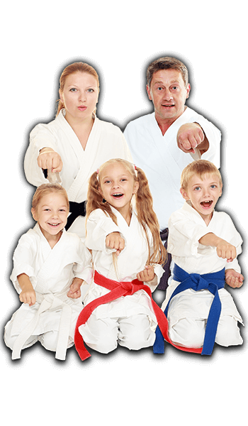 Martial Arts Lessons for Families in __CITY__ __STATE__ - Sitting Group Family Banner