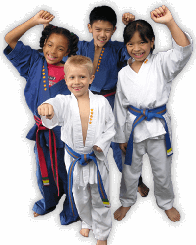 Martial Arts Summer Camp for Kids in __CITY__ __STATE__ - Happy Group of Kids Banner Summer Camp Page